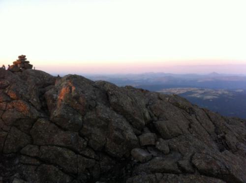 toppen av Tronfjellet